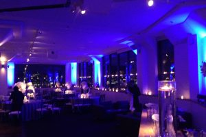 Room with Blue lights